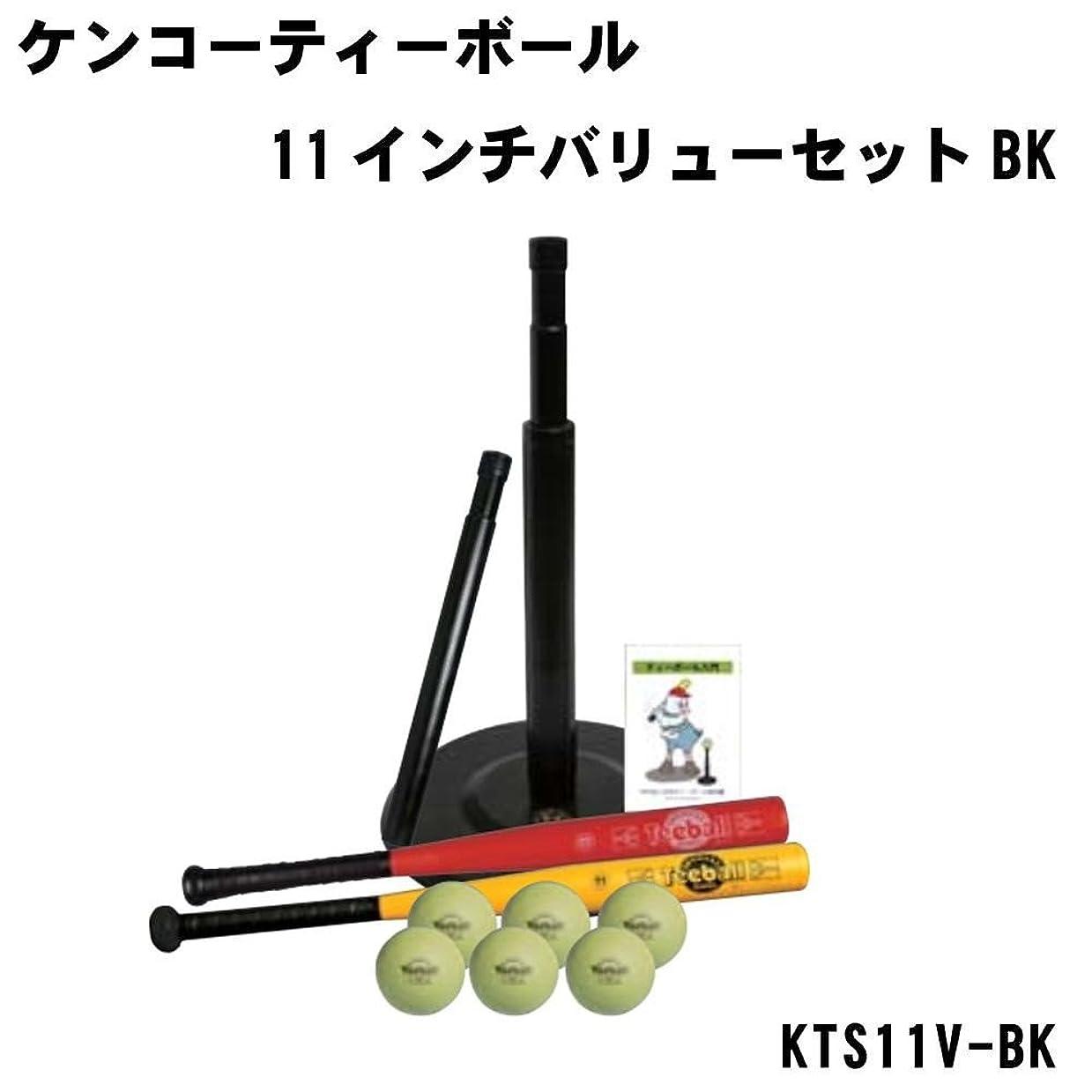 曲げる優先権必要ナガセケンコー ケンコーティーボール11インチバリューセットBK KTS11V-BK