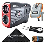Wearable4U Bushnell Tour V5 Shift Patriot Pack Laser Golf Rangefinder with Included Carrying Case, Lens Cloth, and Selected Golf Tool Bundle (Divot Repair Tool)