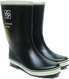 LJJXYYX 男性のためのゴムブーツ冬のブーツ釣りシューズ防水ゴム靴レインシューズ (Size : 44)