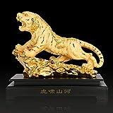 yunyu Figurilla Estatua de Tigre del Zodiaco Chino, Figuras coleccionables Decoración de Mesa de Res...