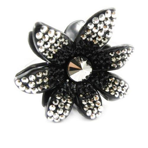 Lily-Crystal [I3099] - Pince cristal de Bohème 'Sissi' noir