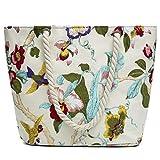 Lalia Einkaufstasche Set, Baumwolle Blätter Sommer Strandtasche, XL 46x32x14cm Reisetasche, Yoga...
