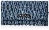 GUESS womens Brinkley Multi Clutch Wallet, Denim, One Size US