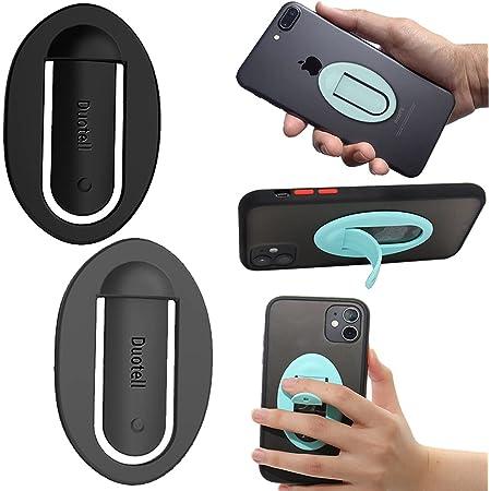 Smartphone Halterung, Silikon Handy Ring, KFZ Navigations Autotelefonhalter, Mobile Griffe Medienständer, Einfacher Selfie Grip, Verstärkter Finger Handy Halterung, Einfach zu Entfernen - 2 Pack