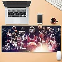 NBA ゲーミングマウスパッド-テーブルマットラージサイズ-精度と速度の向上-滑らかな表面で安定したグリップを実現するラバーベース-滑り止め-900x400x5mm