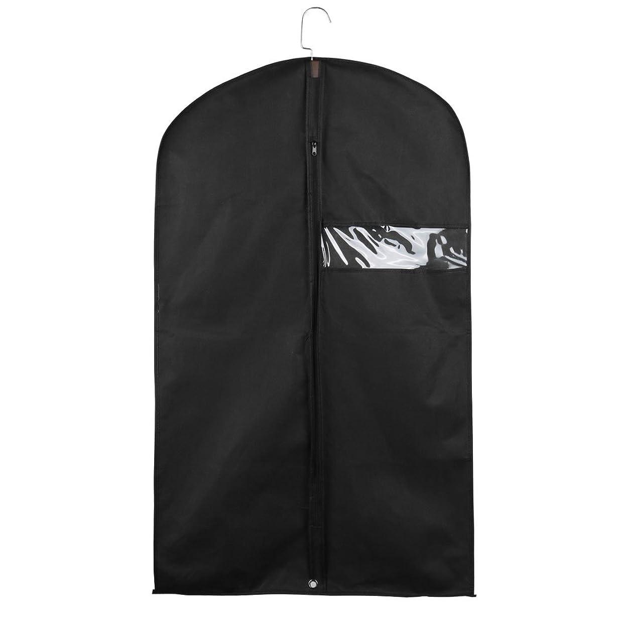 uxcell ガーメントバッグ スーツバッグ ガーメントカバー スーツキャリア スーツカバー ドレスバッグ ブラック