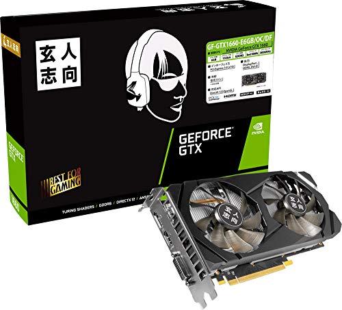 玄人志向 NVIDIA GeForce GTX 1660 搭載 グラフィックボード 6GB デュアルファンモデル GF-GTX1660-E6GB/OC/DF