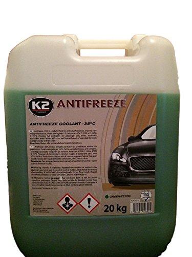 Koelvloeistof, groen, vorstbeschermingsmiddel + gebruiksklaar -35 °C 20 kg + 1 sticker voor PC