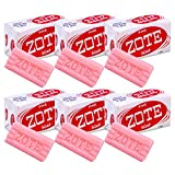 Zote Laundry Soap Bar - Stain Remover - Catfish Bait - Pink - 7 Oz (200g) Each (6 Bars)