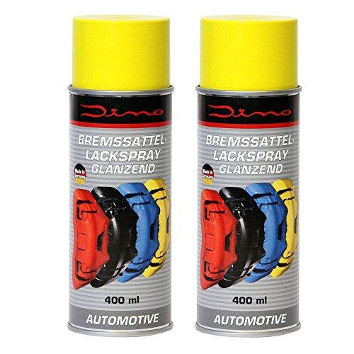 Dino 130095 Bremssattellack 1K Lackspray, 800 ml, Gelb glänzend