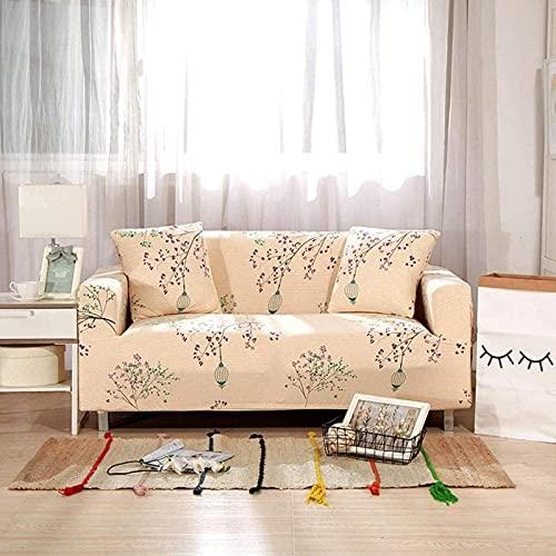 JYHJ Nuevas fundas de sofá de estiramiento, cuatro estaciones de poliéster universal de tela elástica de sofá protector de muebles antideslizante protector 1 2 3 4 plazas-P 1 plaza-90-140cm