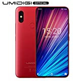 UMIDIGI F1 Play, Smartphone 6.3' FHD+ 6GB RAM 64GB ROM, Fotocamere 48MP+8MP, Helio P60 CPU a 8 core, 5150mAh, Android 9.0 Telefono Cellulare, NFC, Dual SIM 4G VoLTE Global Cellulari - Rosso