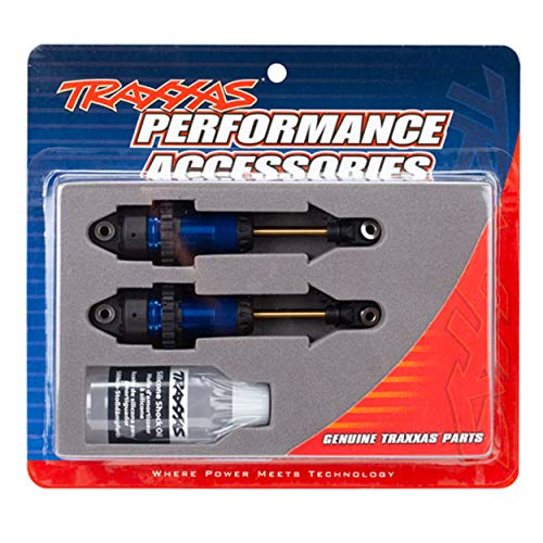 Traxxas TRA7461 Shocks, GTR Long Blue-Anodized, PTFE-Coated Bodies with TiN shafts (2)