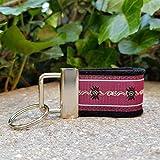 Schlüsselanhänger Taschenanhänger Filz schwarz Webband Edelweiß bordeaux weiß zur Tracht!