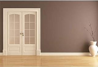 CSFOTO 1,5 x 0,9 m Wohnzimmer Hintergrund Weiß Tür Holzboden Innendekor Büro Hintergrund für Fotografie Schlafzimmer Innenraum Dekor Video Konferenz Hintergrund