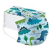 Earleye0 50 Piezas Niños Protección Desechable para Impresión linda 3 Capas Transpirables con Elásti...
