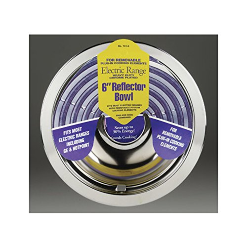 Stanco Range Reflector Bowl No. 701-6 Fits Most Electric Ranges With Plug In Elements Chromed Steel,