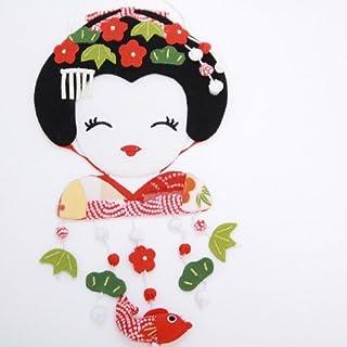 エムルーカンパニー 松竹梅飾りの舞妓さんの変わり下げ飾り ちりめん細工館 招喜屋