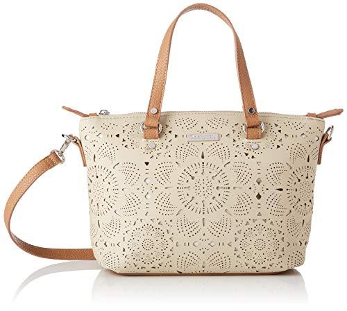 Desigual - Bag Cronos Gela Women Desigual, Bolsos bandolera Mujer, Beige, 10.5x22x25 cm (B x H T)