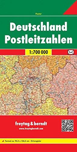 Deutschland Postleitzahlen: Maßstab 1:700.000