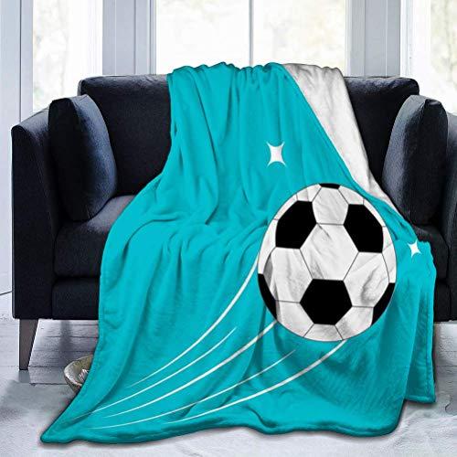 AEMAPE Flying Football Soccer Ball Motion Trails Stars Throw Blanket Manta Suave y cálida para Cama Ropa de Cama Sofá Oficina Sala de Estar
