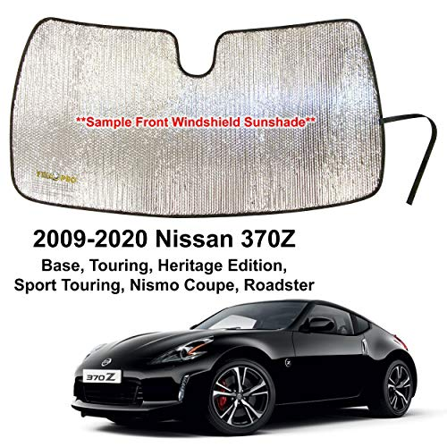 YelloPro Custom Fit Automotive Reflective Front Windshield Sunshade UV Reflector for 2009 2010 2011 2012 2013 2014 2015 2016 2017 2018 2019 2020 Nissan 370Z Base Touring Heritage Sport Nismo Roadster