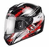 LS2 fF351 wolf casque de moto intégral labels aCU gold 3XL Rouge - Rouge