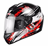 LS2 FF351 Wolf. Casco integral de moto, talla M, color rojo