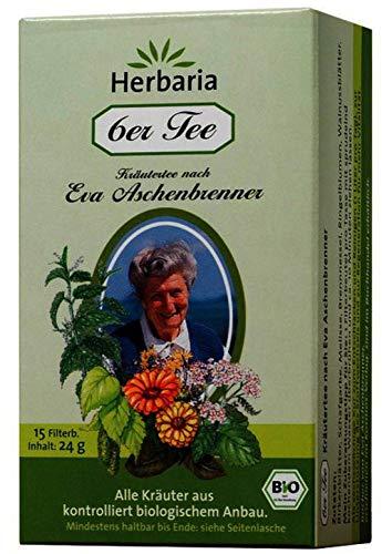 Herbaria Bio 6er Tee nach Eva Aschenbrenner, 15 Aufgussbeutel (6 x 15 Btl)