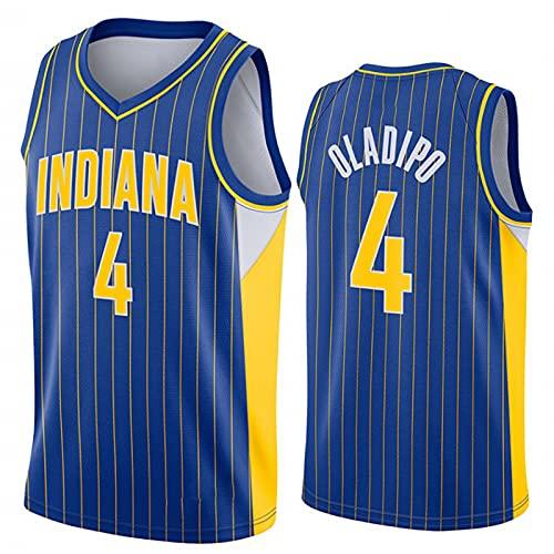 OLJB Victór Oládipo 4# Indiána Pacers Men's Basketball Jersey, cómodo y Transpirable Malla de Malla Jersey, Ideal para Hip Hop, Fiestas, Regalos Blue-XXL