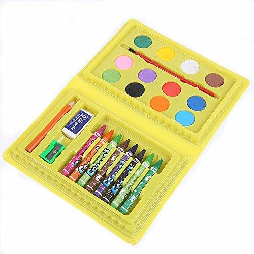 Chengzuoqing Malkasten für Kinder 24 PC-Aquarell Pinsel-Pens Kinder Farbe Bleisatz Kunstmalerei Graffiti Zubehör Geschenkkarton Neujahr Geburtstag