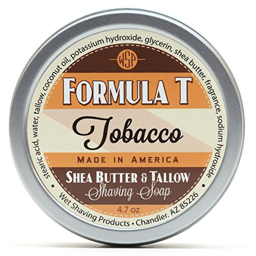 Shaving Soap WSP Formula T (Tobacco) 4.7 Oz Made with Shea Butter & Tallow