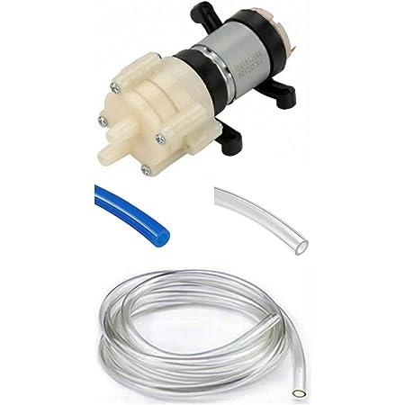 Advitiya - Water Pump DC 6-12Volt 385 Micro Diaphragm Self-Priming Water Pump 12v with 2 X 1 Meter Pipe For Diy Priming Diaphragm Mini Pump Spray Motor 12V Micro Pumps For Water Dispenser