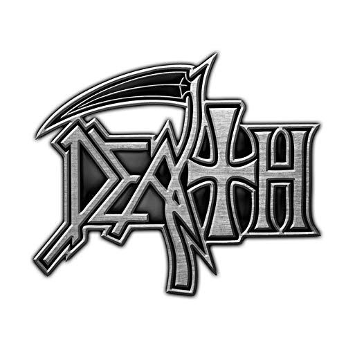 DEATH METALL PIN # 2 LOGO ANSTECKER BADGE BUTTON - 4x3cm