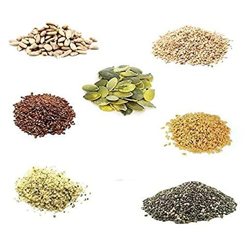BONGIOVANNI FARINE e BONTA' NATURALI Mixseeds, Miscela di 7 Semi Oleosi - Formato da G, 500 grammi