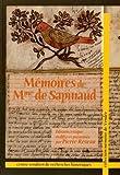 Memoires de Mme de Sapinaud