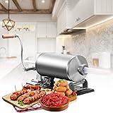 HXCSSK2 Embutidoras De Salchicha Salchicha Salchicha embutidora embutidora 3L Horizontal en aleación de Aluminio y con 3 Tubos de llenado Picadoras de Carne