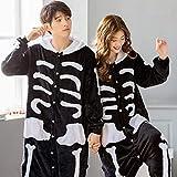 JBDGNZ Pijamas para niños Pijamas Conjuntos de Dibujos Animados de Animales Adultos Niños Anime Cosplay Disfraz Animal Ropa de Dormir Panda, A, S