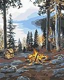 Pintar por Numeros Adultos Supervivencia En La Naturaleza Pintura Guiada por Numeros Pint por Número de Kits for Adultos Mayores Avanzada Niños Joven - Paint by Numbers 40x50cm(sin marco)