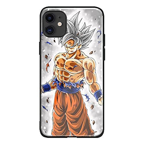 Goku Super Saiyan - Cover per telefono in morbido silicone con sfera di drago DBS DBZ, motivo: anime giapponesi, in morbido silicone, motivo: manga (iD #306, iPhone 12 Pro Max)