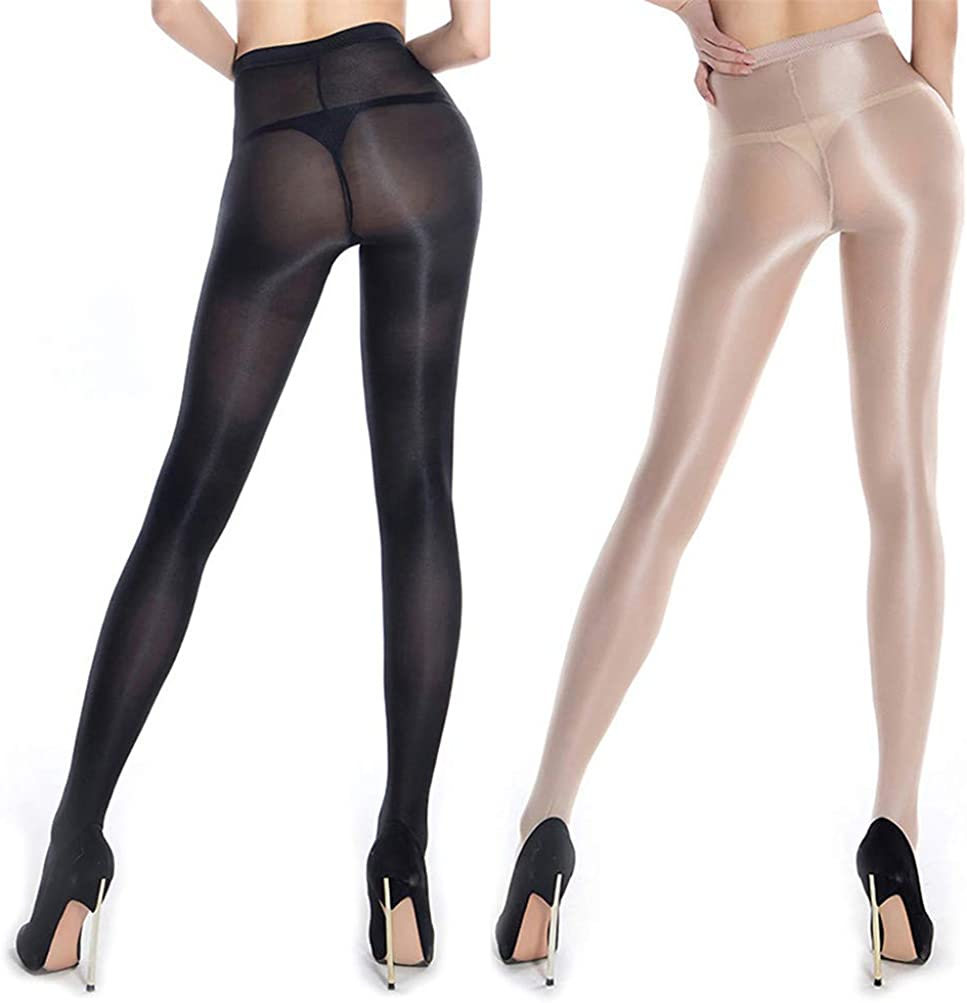 2 Pairs Shaping Ballet Oil Socks Shiny Silk Stockings Pantyhose Dance Tights