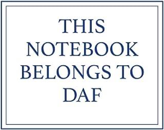 This Notebook Belongs to Daf