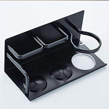 Jkckha Badkamer plank ruimte aluminium badkamer plank Gratis Ponsen Retro Black Hair Rack Dryer Rack Air Rack Rack 28cm * ...