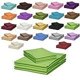Qool24 Klassische Bettlaken 240x250cm zahlreiche Unifarben 100% Baumwolle Betttuch zum unterstecken -180x200cm und 200x200cm- Grün