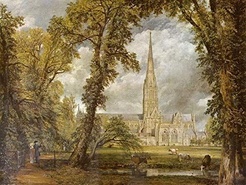 Jigsaw Puzzle John Constable - The Salisbury Cathedral as seen from The Bishop