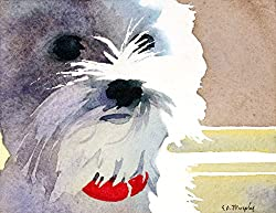 West Highland White Terrier dog art picture