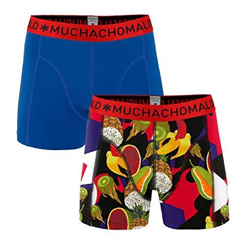 Muchachomalo boxershort voor heren, verpakking van 2 stuks, GMO, groenten, blauw/rood