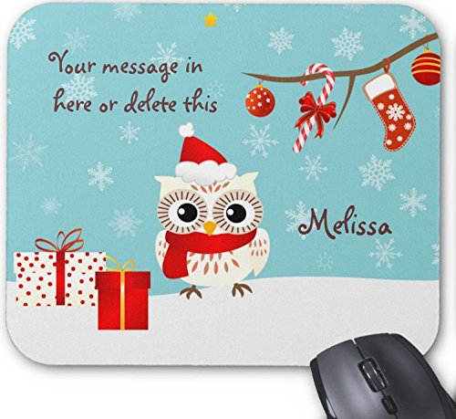 Happy Snow Owl Greetings Non-slip Mousepad