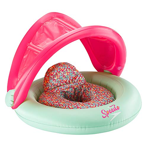 Speedo Baby Swim Flotation Baby Cruiser With Canopy Begin to Swim , Bright Pink