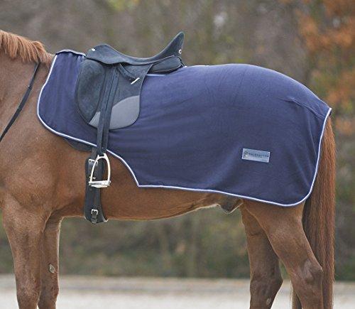 Paarden sprei nierendeken van fleece met zadeluitsnijding maat warmbloed
